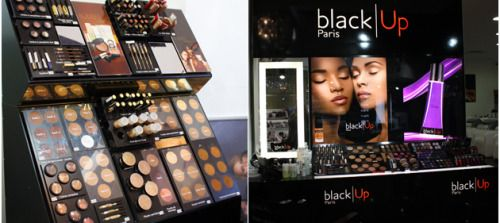 """blackgirlsofparis: """"Black Up is a french makeup brand for light and dark black skins. Available on Sephora online shop, you can also buy it in Black up stores (France). The best seller of the brand is the contouring stick inspired by the makeup..."""