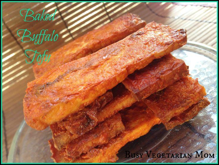 Baked Buffalo Tofu Recipe - Busy Vegetarian Mom | Busy Vegetarian Mom
