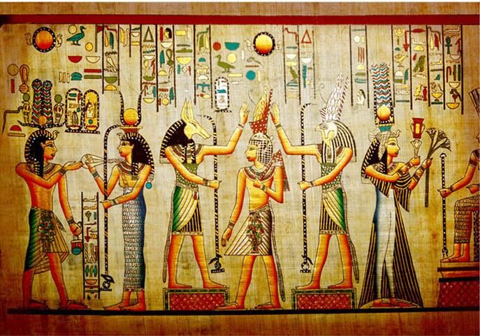 Ancient Egyptian Pharaoh Photo Wallpaper  Retro Art  Mural Wallpaper Hoom Decor  Non-Woven paper Wall Mural