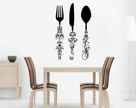 8 best Kitchen \ Cafe Decals images on Pinterest Wall decal - wandregal für küche