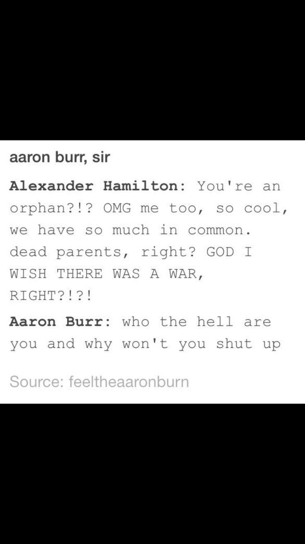 alexander hamilton and aaron burr relationship