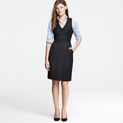 J Crew Gallerist Dress in Super 120s. $198 - I really really love this look.