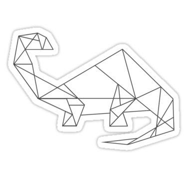 "Geometric Dinosaur (Brontosaurus)"" Stickers by Nadinosaur8   Redbubble"