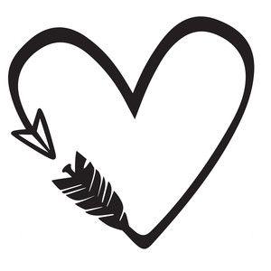 Silhouette Design Store - View Design #177769: heart arrow