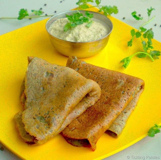 Pesarattu ~ Whole Green Gram Savory Pancakes for Breakfast