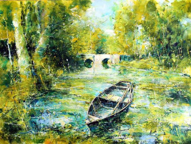 Summer on the Dordogne, 30 x 40 cm acrlyic on canvas by Steven Christian Reed (scheduled via http://www.tailwindapp.com?utm_source=pinterest&utm_medium=twpin&utm_content=post27542932&utm_campaign=scheduler_attribution)