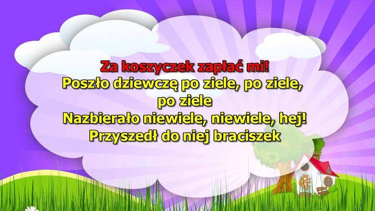Karaoke dla dzieci - Poszło dziewczę po ziele - z wokalem
