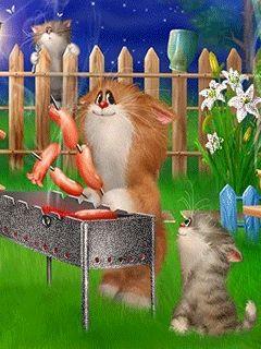 Kitties like wiener roasts, too !