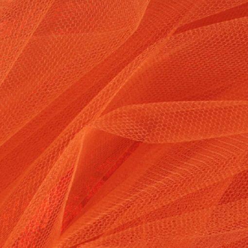 Tulle dark orange - Stoff & Stil
