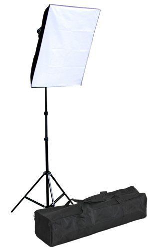 """Fancierstudio 1000 watt softbox lighting kit softbox light kit video lighting kit with carrying case by Fancierstudio 9026S Single by Fancierstudio. $69.99. This is a brand new professional digital fluorescent Video Photography compact studio kit that gives you 1000 watts output. This kit comes one 20""""x28"""" softbox to soften your lights. This Studio portrait Kit is easy to use and setup. These lights work great with digital cameras. It is ideal for all level photographers..."""
