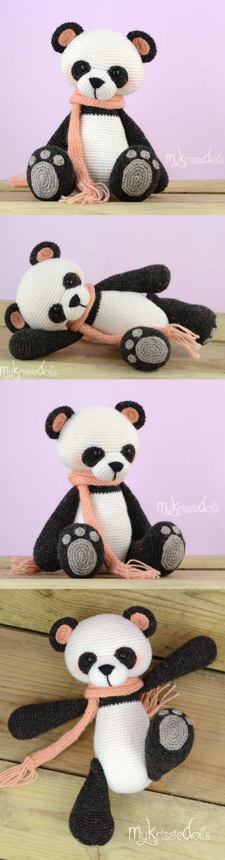 Amigurumi Panda Bear Crochet Pattern Printable PDF #ad #amigurumi #amigurumidoll #amigurumipattern #amigurumitoy #amigurumiaddict #crochet #crocheting #crochetpattern #pattern #patternsforcrochet #printable #instantdownload #panda #crochetbear