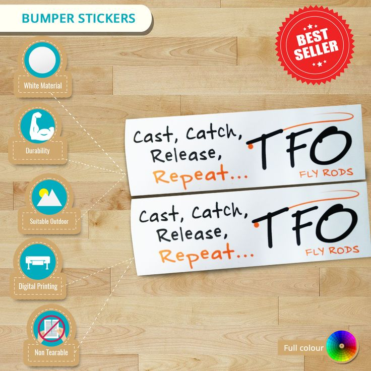 Need a long lasting and durable stickers? Then, order our Bumper Stickers now! Get this for as low as $49 only. Durable & strong that lasts up to 5 years.