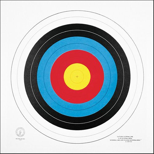 Martin Archery Competition 40 cm .Target Face Set