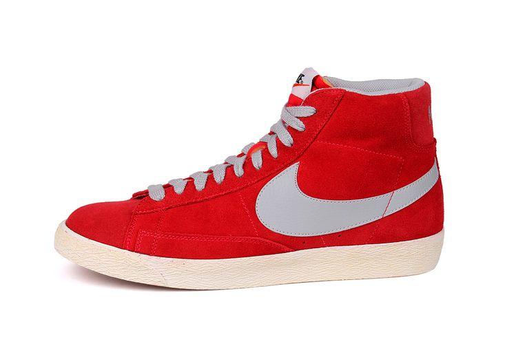 gave Nike Blazer Mid Premium Vintage (Rood)