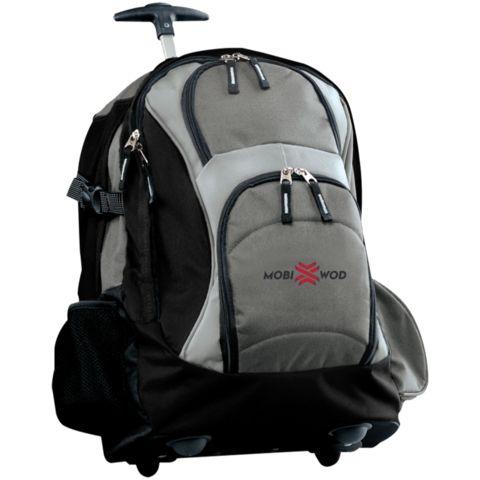 Custom Embroidered Wheeled Backpack