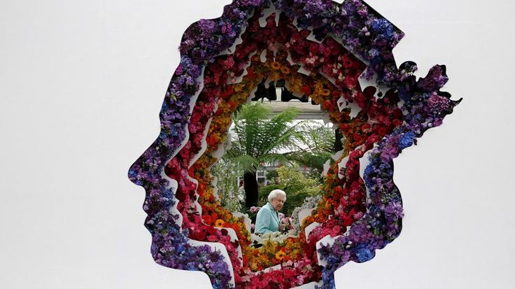 Queen Elizabeth II at the Chelsea Flower Show.  |  The Most Amazing Flower Festivals in the World (PHOTOS) | The Weather Channel [click to follow link]