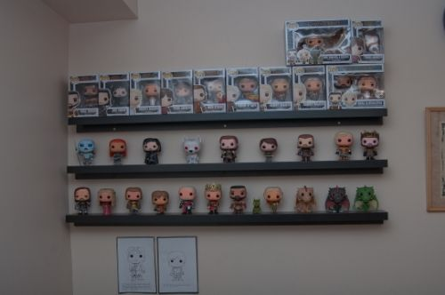 funko display ikea ribba ledge collectibles pinterest
