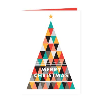 geometric tree  Christmas Card DesignsChristmas Graphic ...