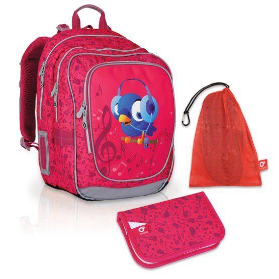 Velký školní set TOPGAL- CHI 739 H Pink+ CHI 759 a pytlík na přezuvky