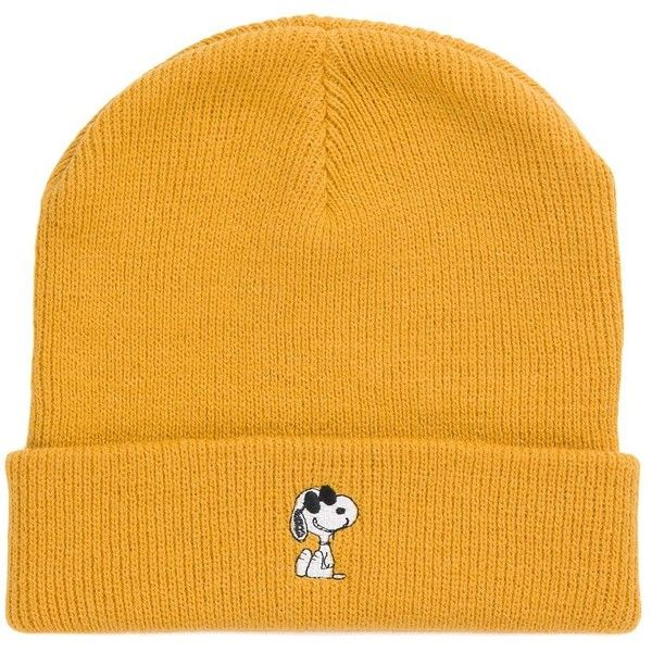 Vans x Peanuts Beanie ($26) ❤ liked on Polyvore featuring men's fashion, men's accessories, men's hats, yellow, vintage mens hats, mens beanie hats and vintage mens accessories