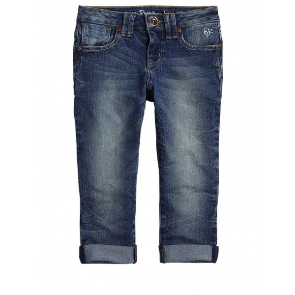 Roll Cuff Denim Capris ❤ liked on Polyvore featuring girls, kids and kids clothes