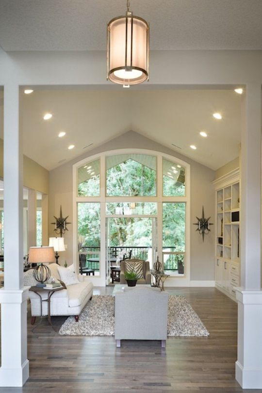 The dream home everybody wants: Neutral colours and polished boards are most popular in living rooms as well.
