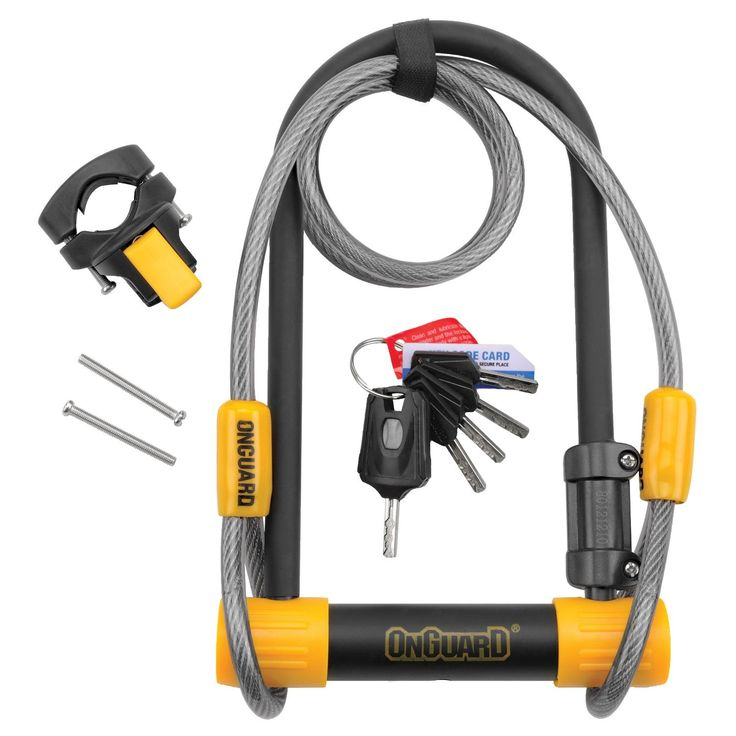 OnGuard 8012 Bulldog DT U-Lock with Cable - Performance Bike #performancebikebicycles