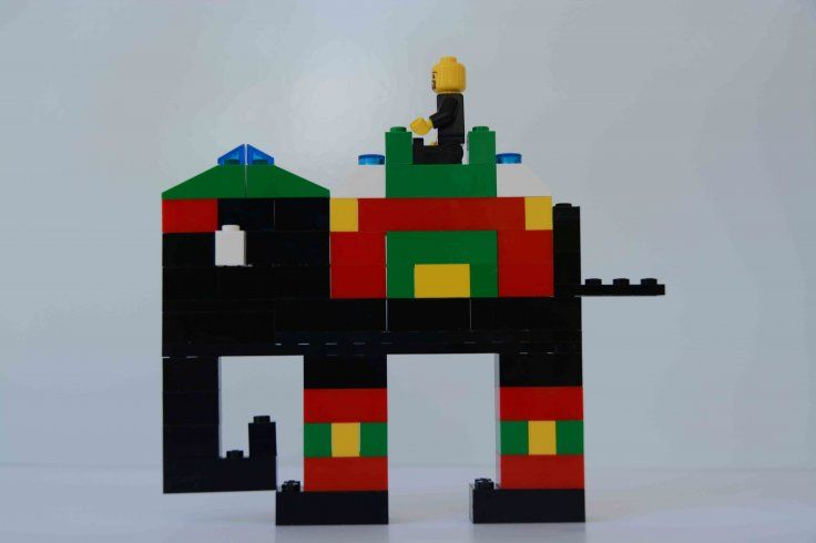 Visited India in summer and saw elephants in Jaipur with colorful cloths.<center></center>Got inspired and created elephant with lego with that image of elephant in mind.