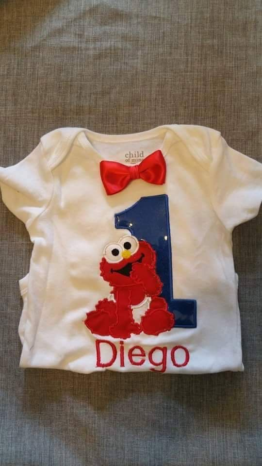 Baby Elmo birthday shirt. Personalized Elmo by DreamyDesignsUS