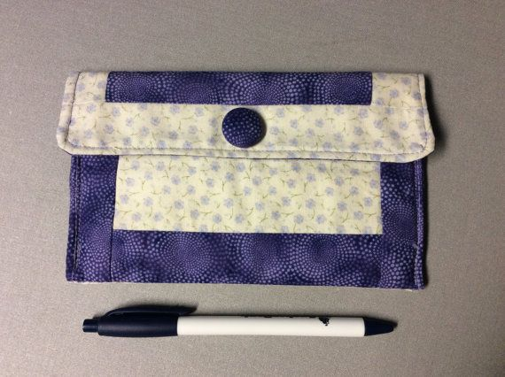 Small pouch glasses case small clutch tampon by MiddleSisterWorks