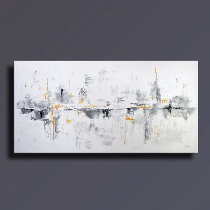 Les 25 meilleures id es concernant toile abstraite sur - Tableau sur mur blanc ...
