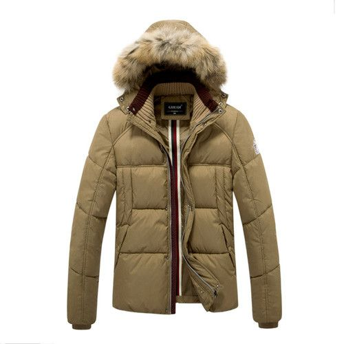 Winter Jacket Men Warm Cotton Snow Jackets Casual Slim Thick Coat Duck Down Hooded Parka Outerwear