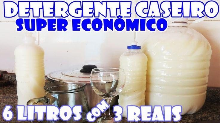 Com R$ 3,00 reais você faz 6 litros de DETERGENTE CASEIRO - Fácil e Econ...