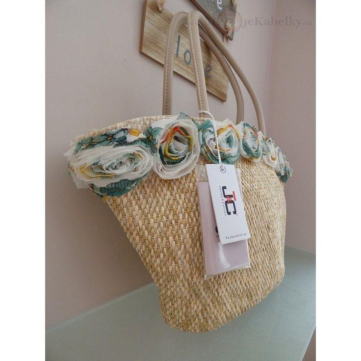Značková talianská kabelka Jacky&Celine vo farbe béžová JC764-2