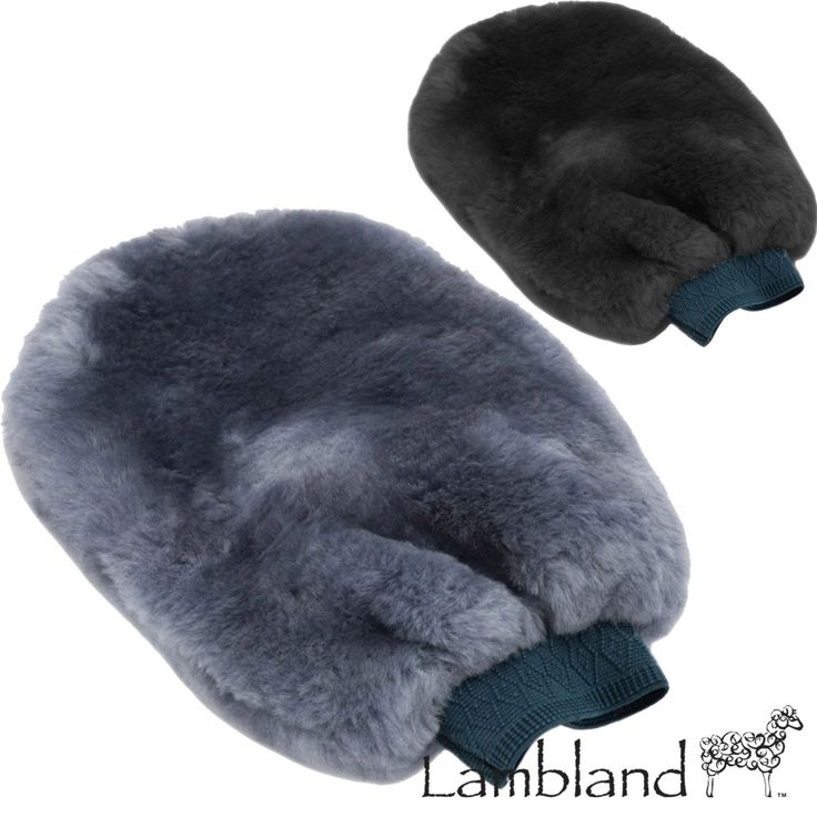 Lambland Genuine Sheepskin Car Polishing Mitten - Black, Grey
