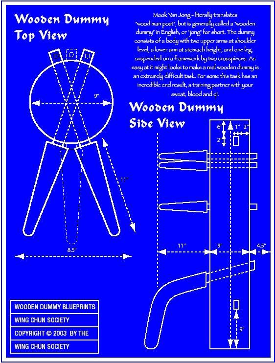 wing chun dummy Blueprints1