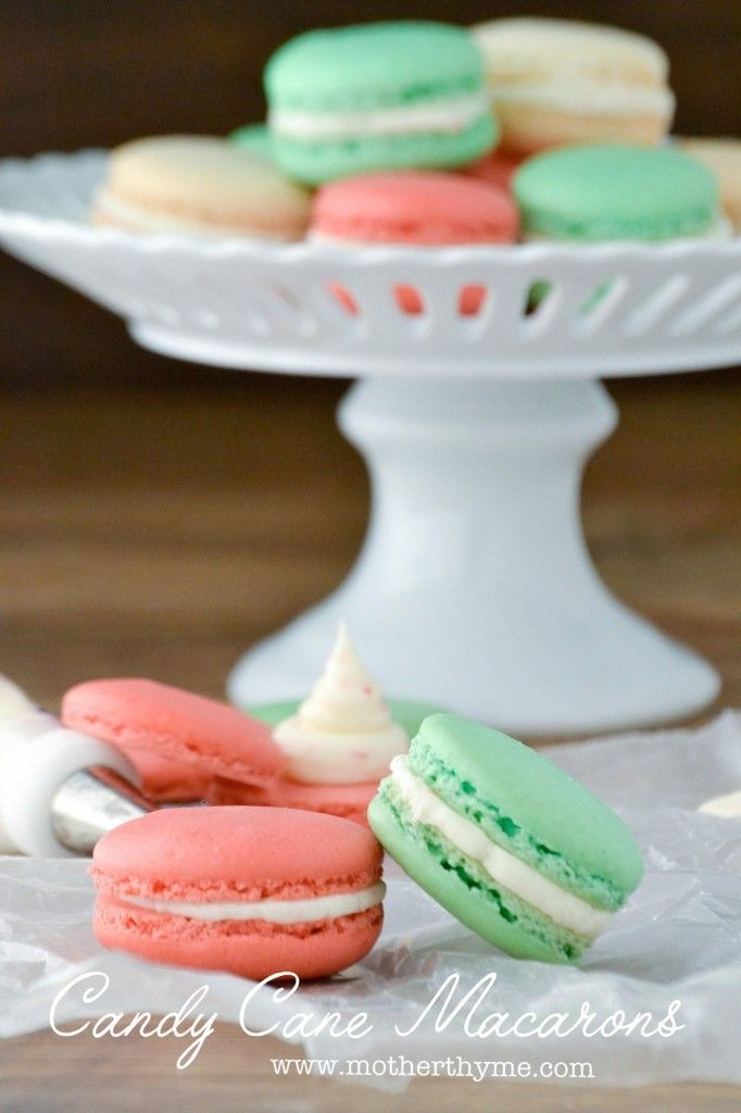 Candy Cane Macarons | Recipe