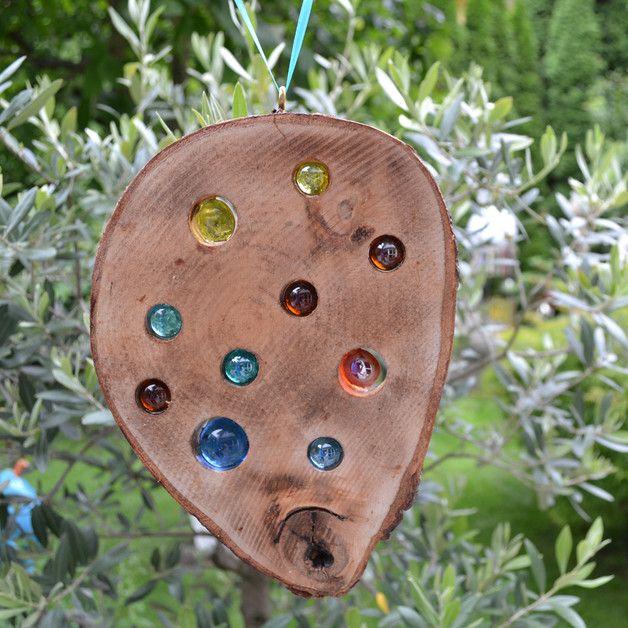 Gartendekoration holz sonnenf nger 23 cm natur ein for Gartendekoration holz