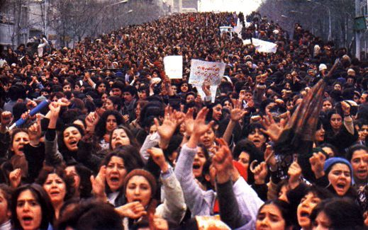 1979 Hundreds of Thousands Iranian women protest mandatory veil