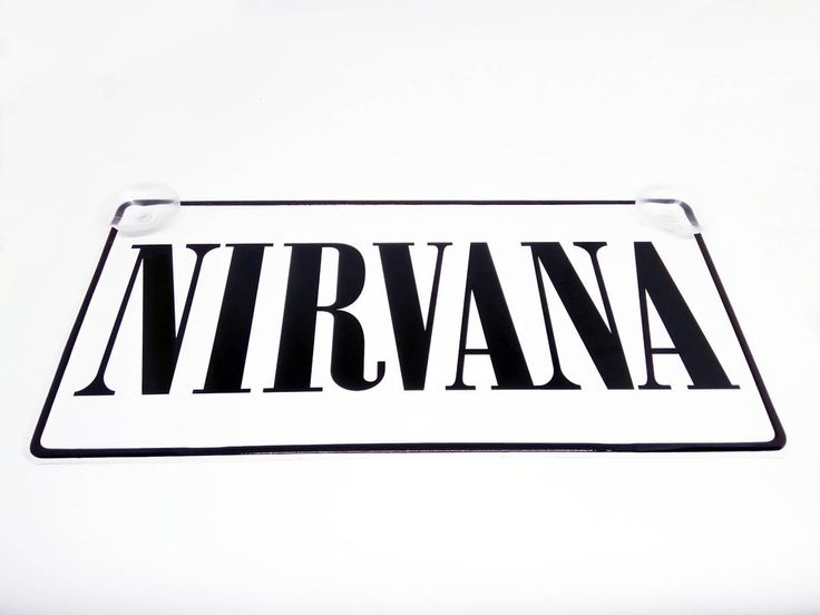 Nirvana Logo on Vehicle registration plate New