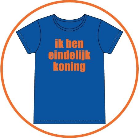 t-shirts - eindelijk koning