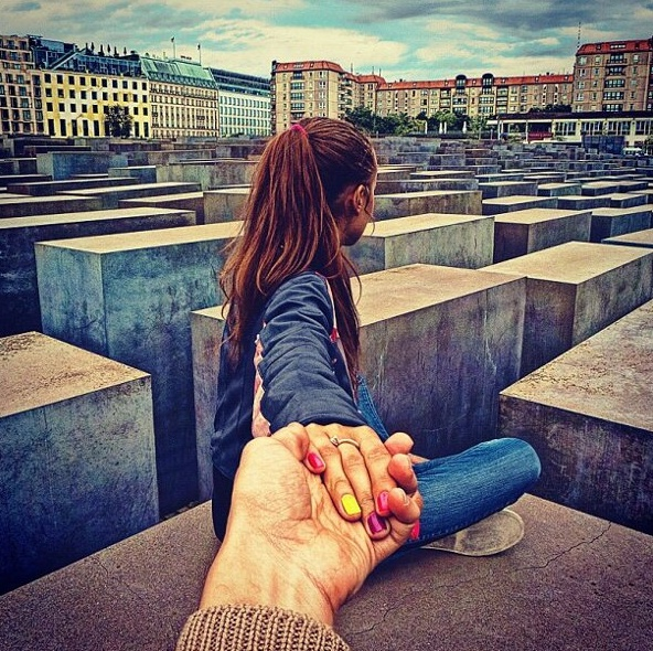 34. Follow Me To #Holocaust memorial Berlin 2 Sep 2012 (the 34th pic of the photo series by Russian Photographer, Murad Osmann)