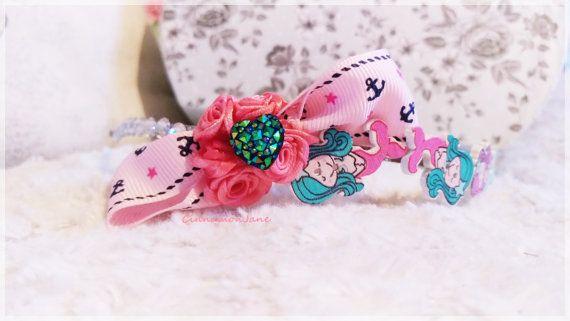 Pin Up Rockabilly Mermaid Anchor Roses Hairband by CinnamonJane