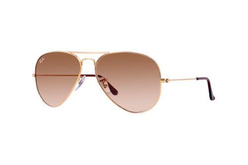 NEW-Ray-Ban-Sunglasses-Aviator-Classic-Light-Brown-Gradient-Gold-Metal-Frame
