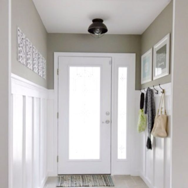 Entry Way With Beadboard And Taupe Paint Taupe Is My