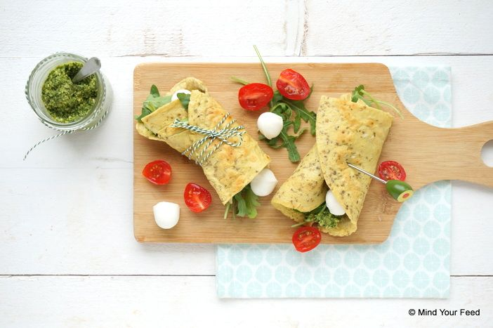 Italiaanse havermout wrap Caprese - Mind Your Feed