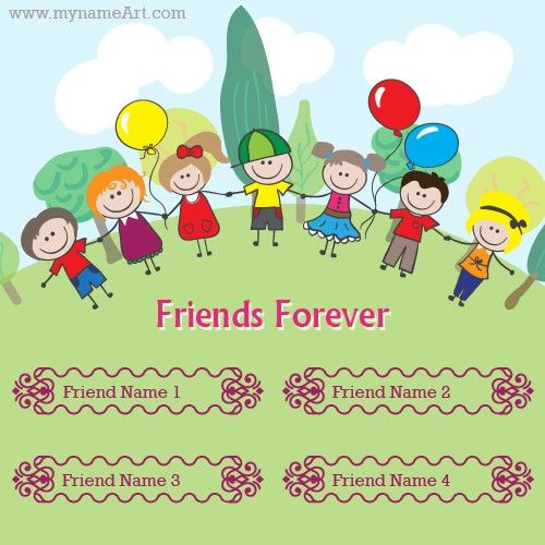 Friend group photo with cartoon character hd,you can make friendship day wishes card free online here,beautifull friendship day card with balloon.friends forever special wishes card.friends group names on greetings cards pictures free,beautiful friendship cards with friends names for friendship day.cute boys and girls cartoon images happy friendship day.