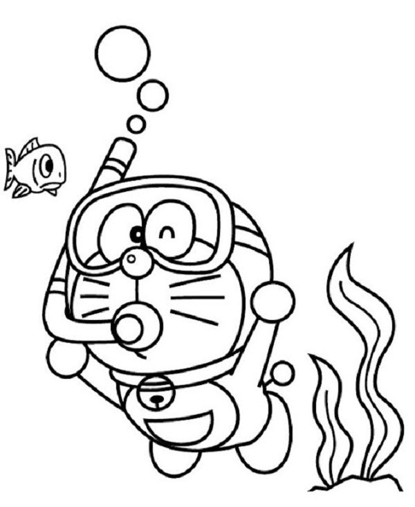 Doraemon On The Sea Coloring Pages Free Doraemon On The Sea