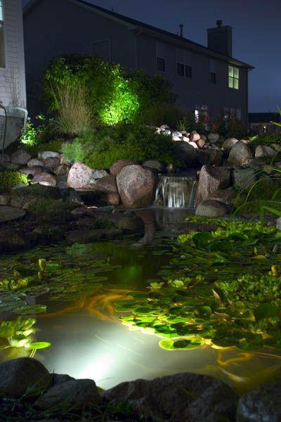 pond lighting ideas. garden lighting create magic at night pond ideas