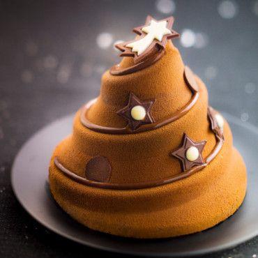 Dessert de Noël : gâteaux, biscuits et gourmandises à déguster : Sapin pâtissier au chocolat - Picard - Cuisine Plurielles.fr